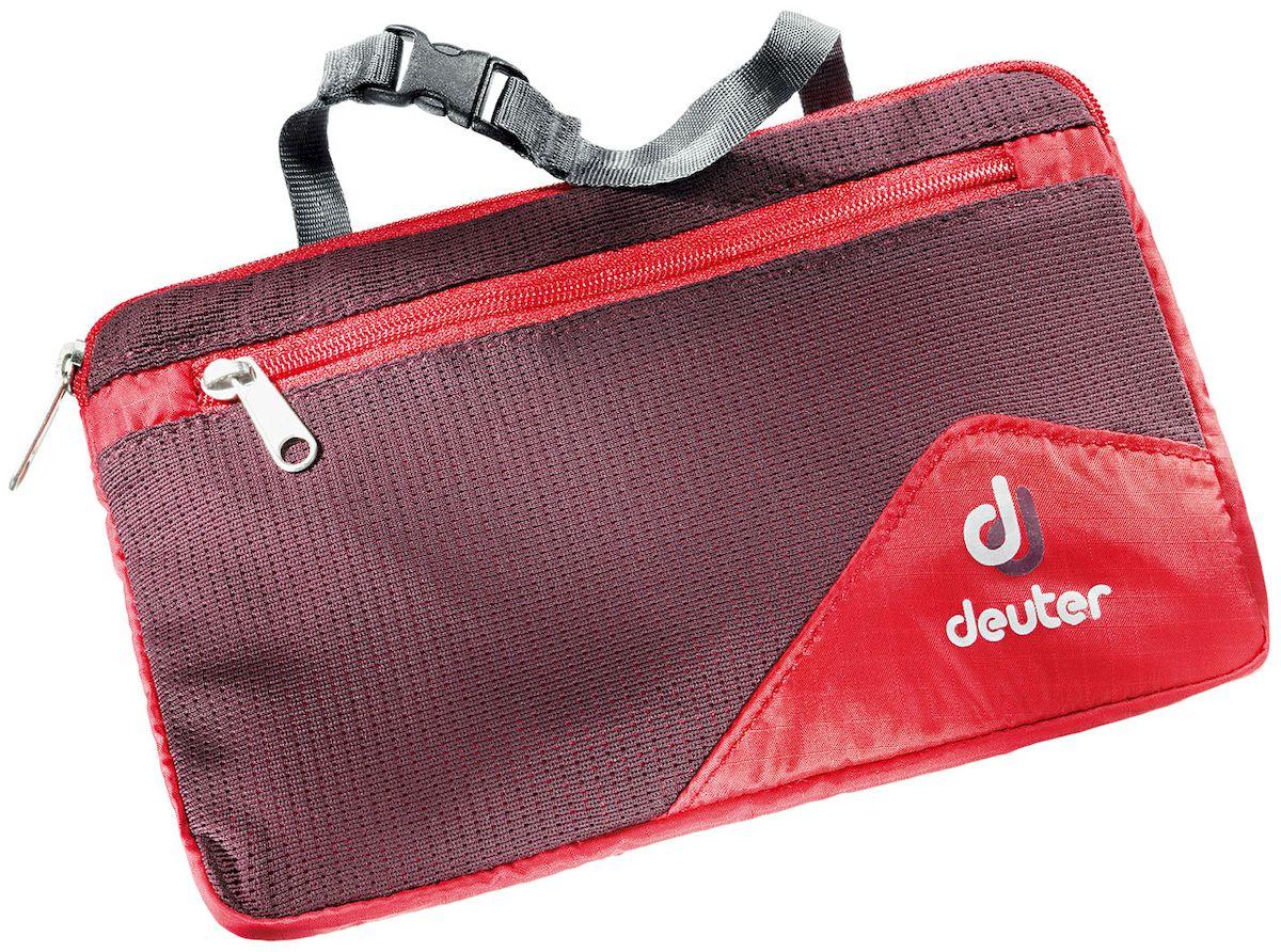 6d1ddda555e2 Дорожная косметичка Deuter Wash Bag Lite Ii Fire-Aubergine, выполненная из  полиэстера, незаменима в путешествиях и командировках.