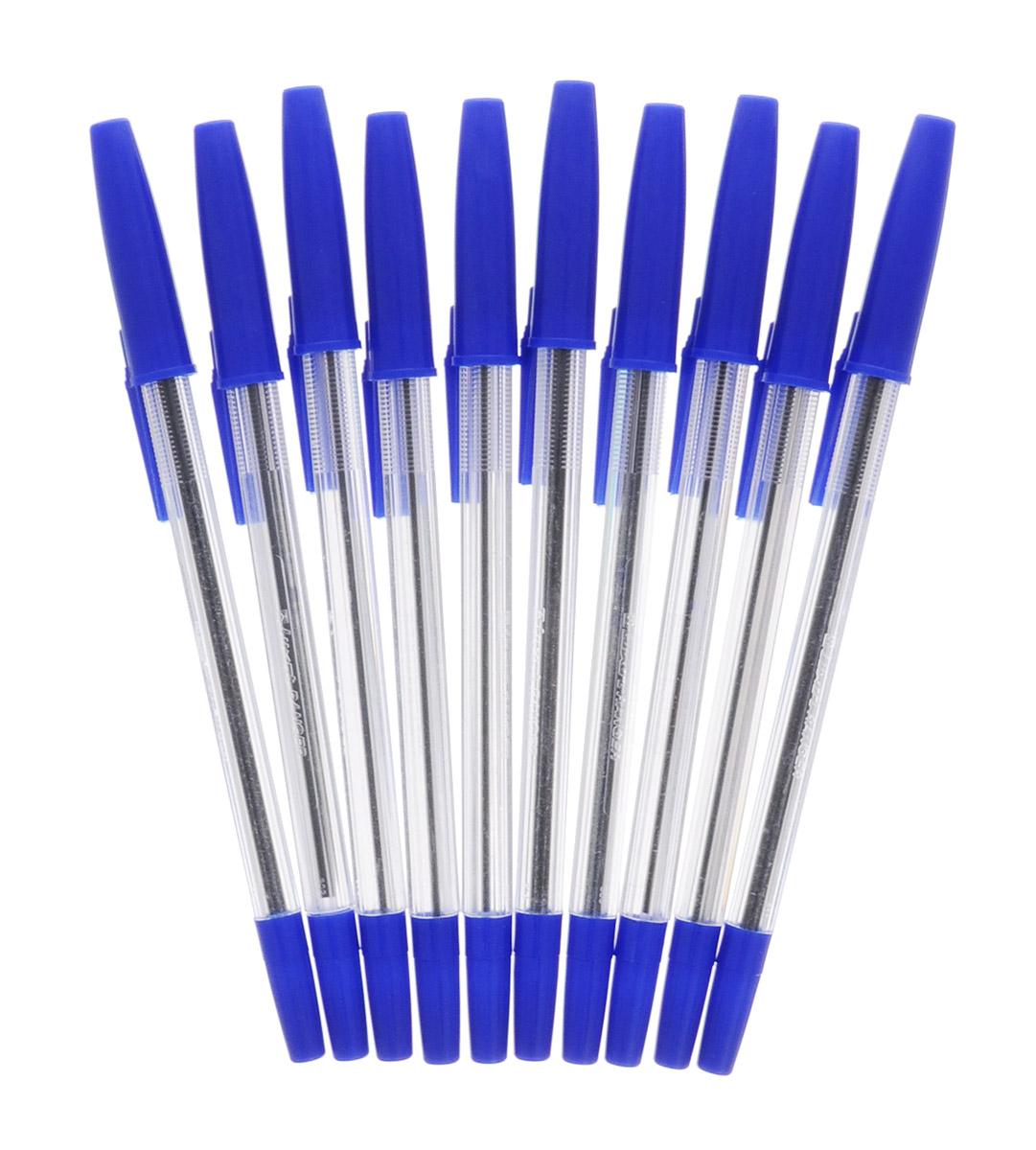 Luxor Набор шариковых ручек Ranger цвет чернил синий 10 шт набор капиллярных ручек luxor fine writer 045 246642 цвет чернил красный 10 шт