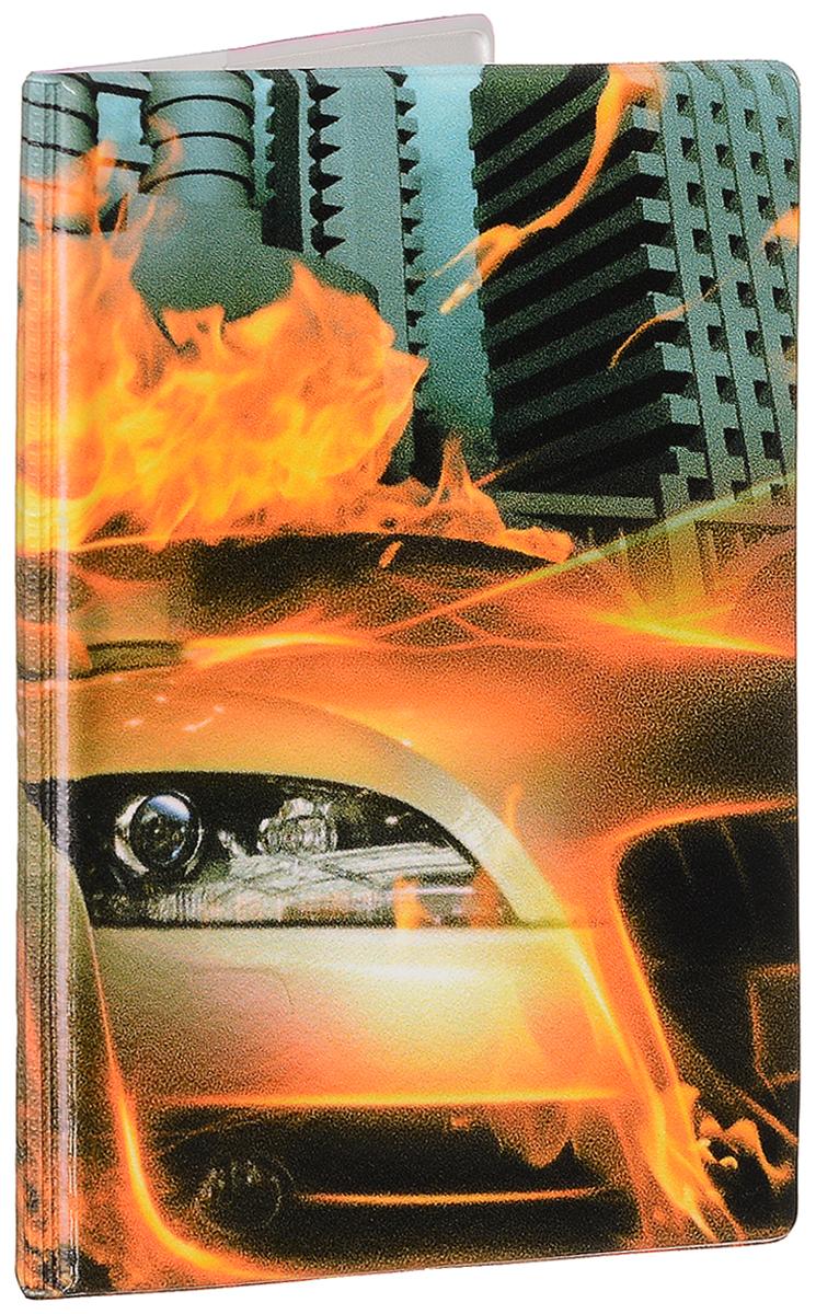 Фото - Обложка для паспорта мужская Эврика Огненная машина, цвет: оранжевый, серый. 93247 светильник для чтения книг эврика цвет оранжевый