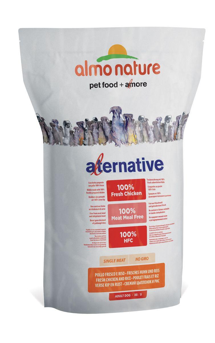 """Корм сухой Almo Nature """"Alternative"""" для собак карликовых и мелких пород, с цыпленком и рисом, 3,75 кг"""