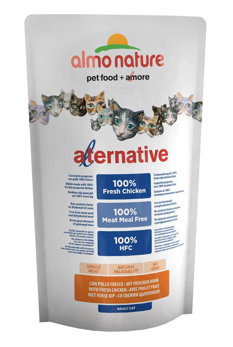 Корм сухой для кошек Almo Nature Alternative, с цыпленком и рисом, 750 г добавка пищевая nature s bounty нэйчес баунти натуральная эхинацея 400 мг 100 капсул