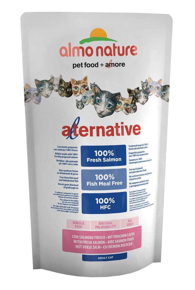 Корм сухой Almo Nature Alternative, для кошек, с лососем и рисом, 750 г корм сухой almo nature alternative для собак карликовых и мелких пород с цыпленком и рисом 750 г