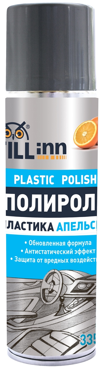 Полироль пластика Fill Inn, аэрозоль, апельсин, 335 мл полироль д покрышек fill inn 520мл аэрозоль