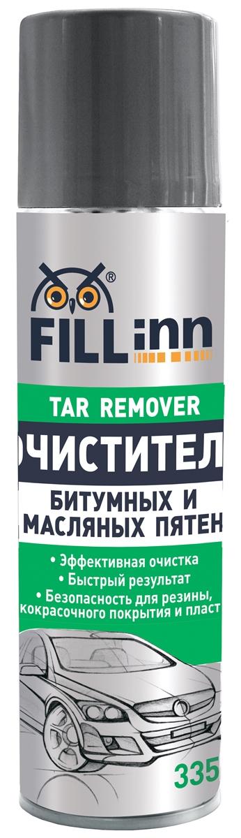 Очиститель битумных и масляных пятен Fill Inn, аэрозоль, 335 мл очиститель кузова fill inn от битумных масляных пятен 335 мл