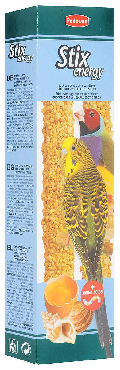 Лакомство Padovan Энерджи, для волнистых попугаев и экзотических птиц, 80 г лакомство для попугаев padovan фруктовое 150г