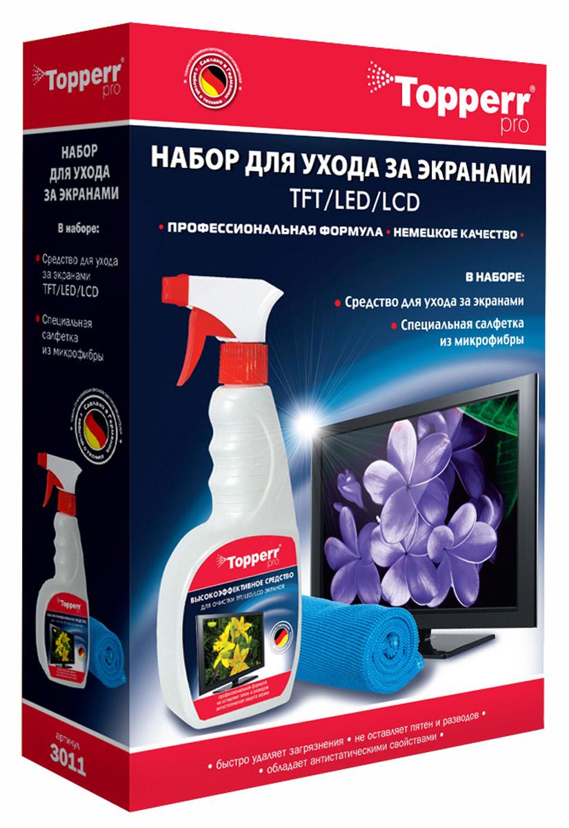 Topperr 3011 набор для чистки экранов аксессуар набор для ухода за кухонными плитами topperr 3415