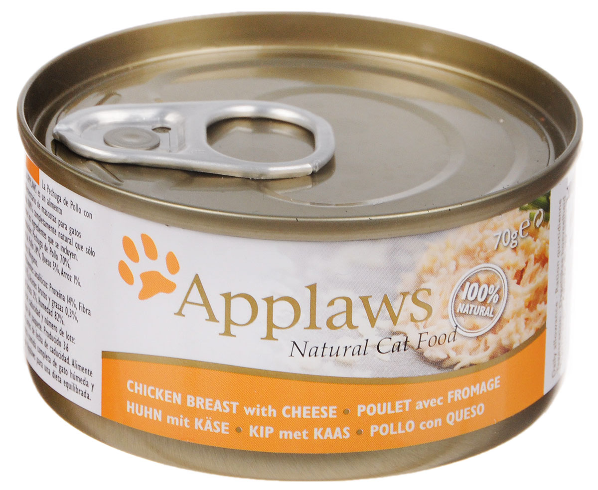 Консервы для кошек Applaws, с курицей и сыром, 70 г