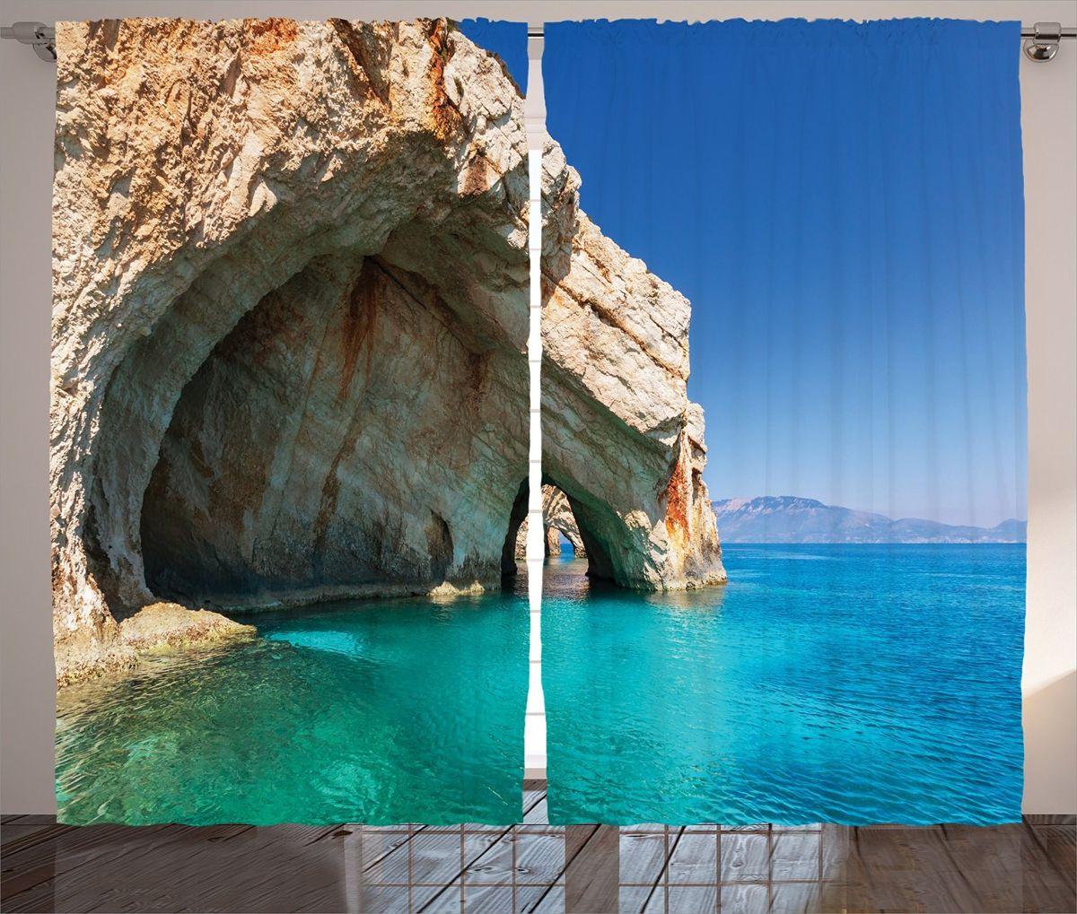"""Комплект фотоштор Magic Lady """"Морская пещера"""", на ленте, высота 265 см"""