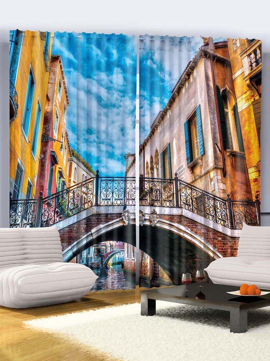 """Комплект фотоштор Magic Lady """"Путешествие в Венецию"""", на ленте, высота 265 см"""