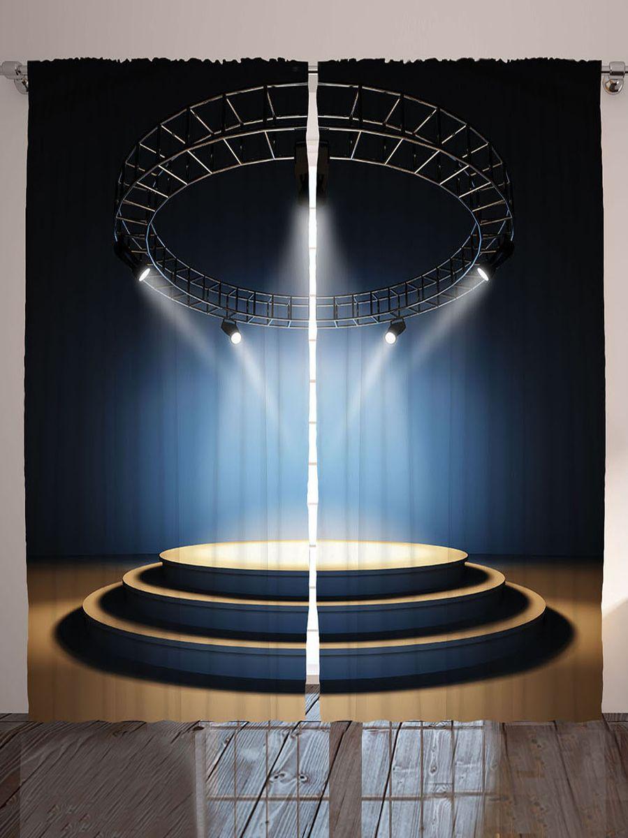 "Комплект фотоштор Magic Lady ""Сцена под софитами"", на ленте, высота 265 см"