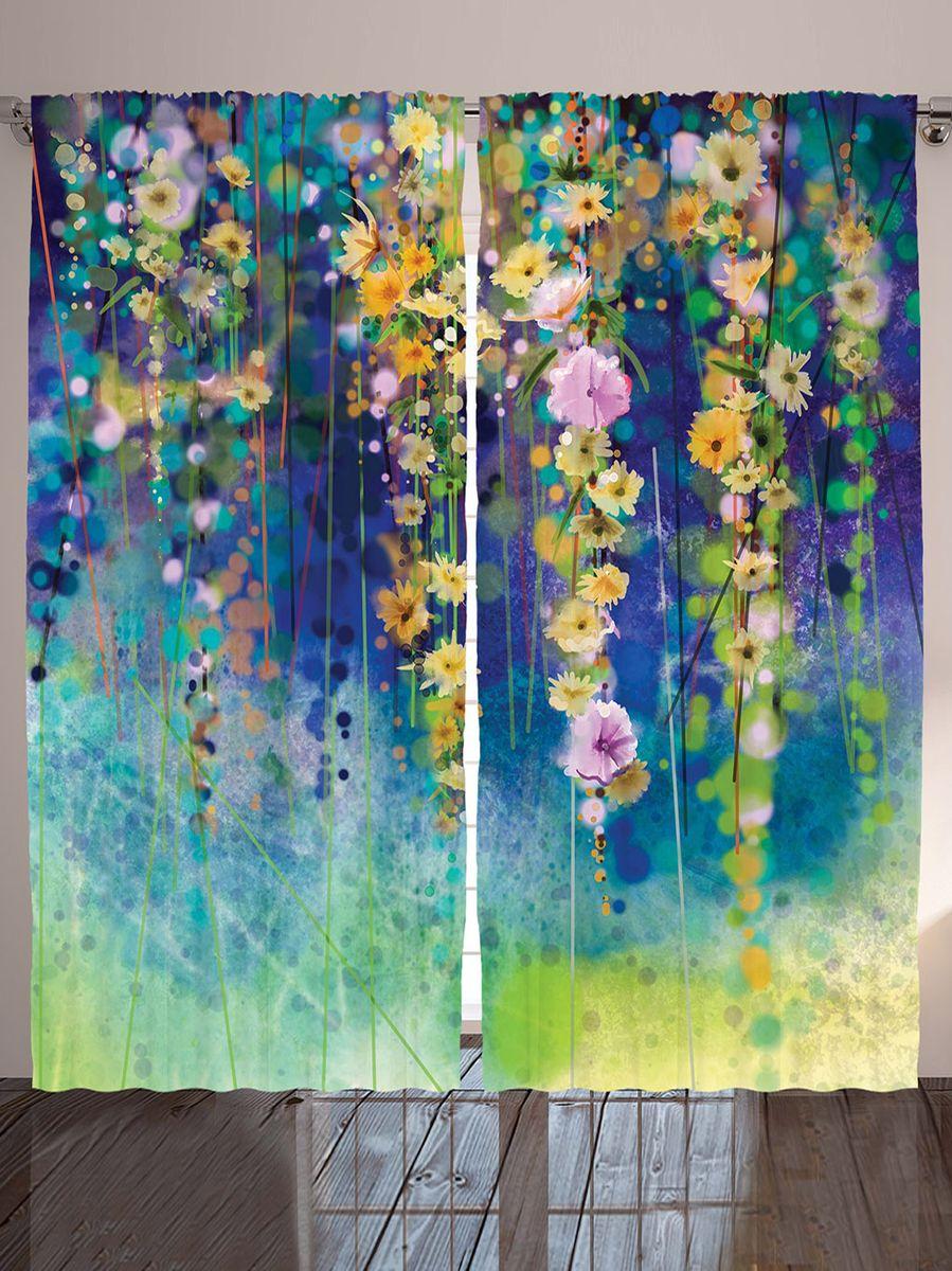 """Комплект фотоштор Magic Lady """"Вдохновение цветов лианы"""", на ленте, высота 265 см"""