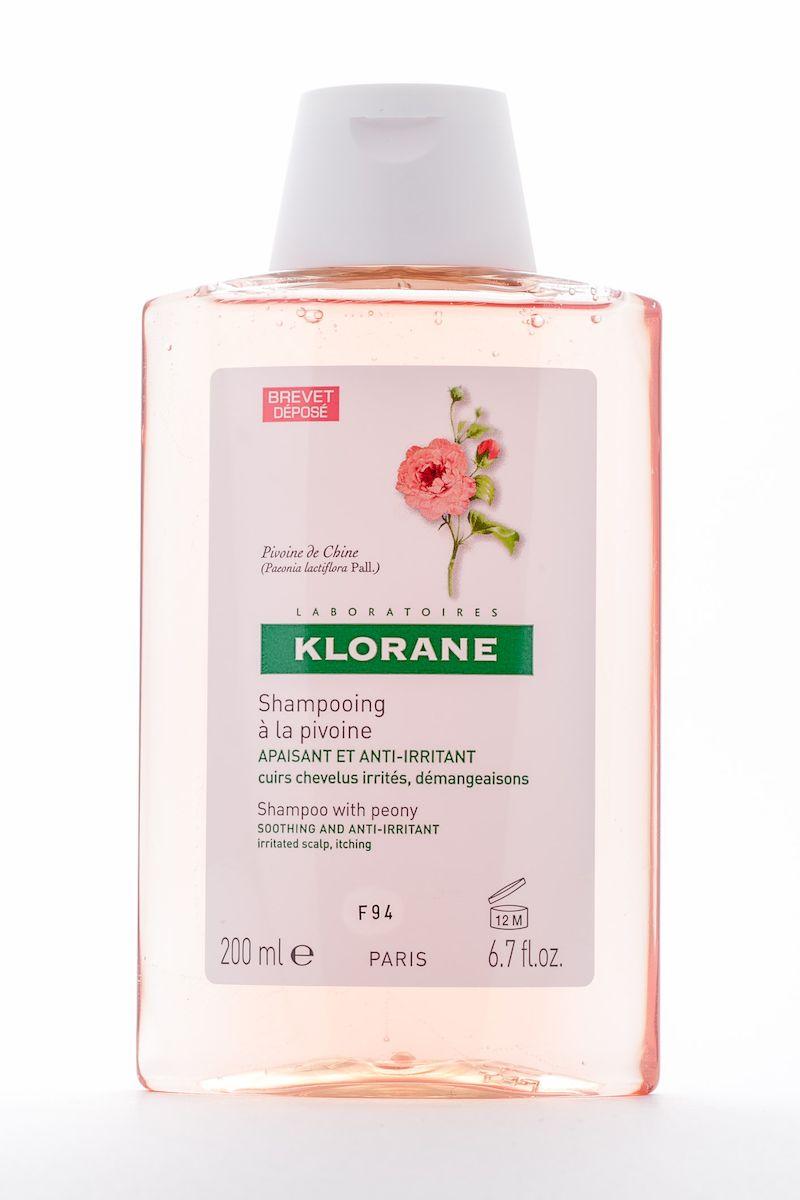 Klorane Irritated Scalp Шампунь с экстрактом пиона, успокаивающий, 200 мл шампунь klorane с настурцией от сухой перхоти 200 мл