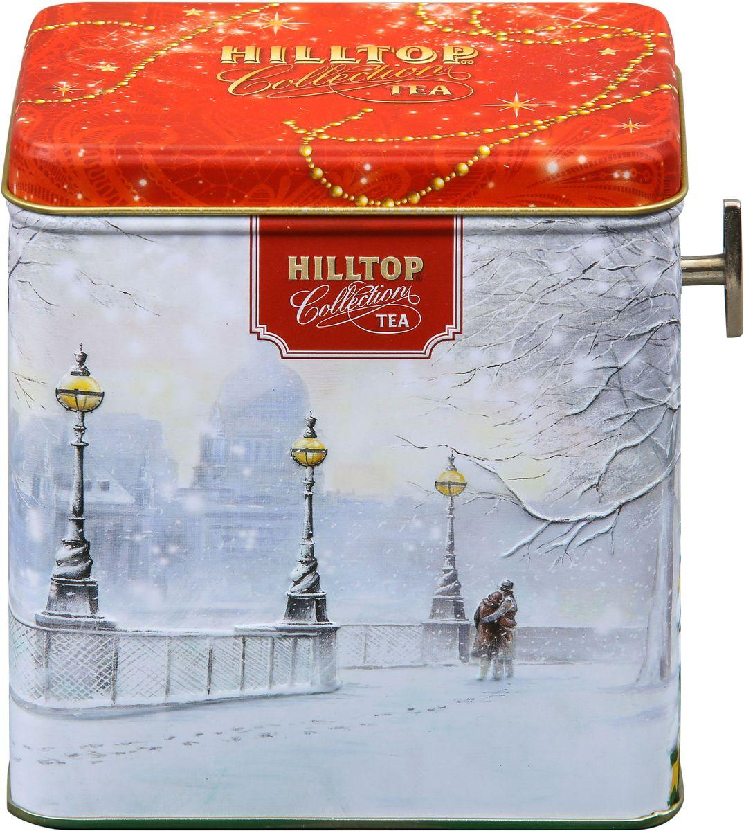 Hilltop Шкатулка Заснеженный город Эрл Грей ароматизированный листовой чай, 100 г