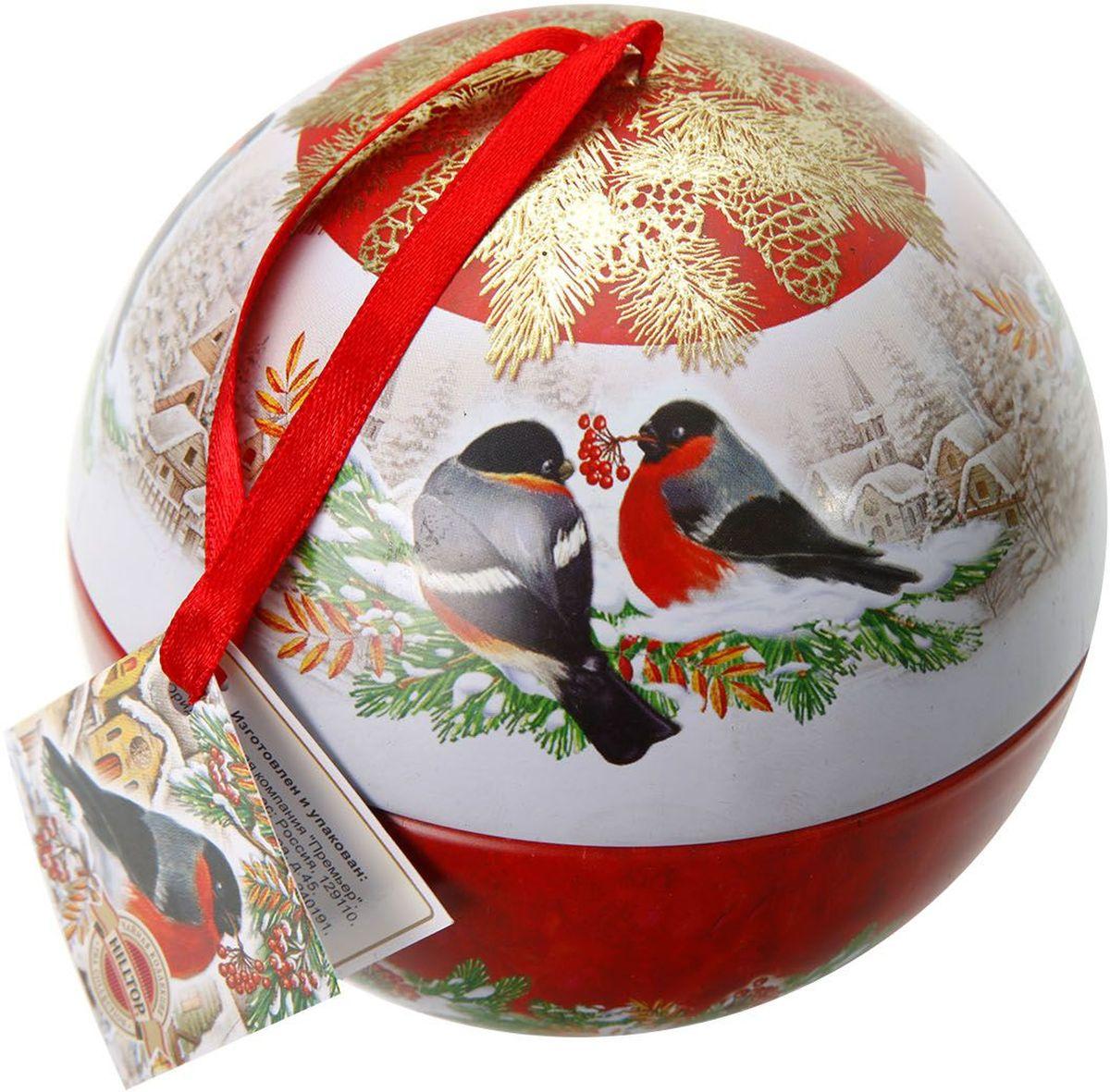 Hilltop Новогодний шар Морозный рассвет Королевское золото чай черный листовой, 80 г hilltop пасхальный подарок черное золото черный листовой чай 80 г