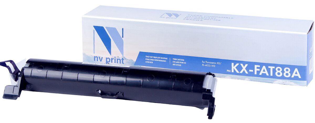 Картридж NV Print KX-FAT88A, черный, для лазерного принтера цена