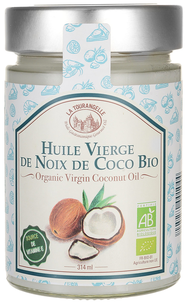 La Tourangelle Organic Virgin Coconut Oil масло кокосовое нерафинированное, 314 мл la tourangelle sesame virgin oil масло кунжутное нерафинированное 250 мл