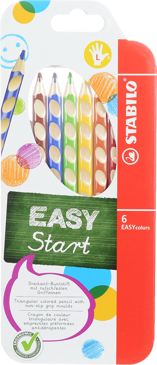 Stabilo Набор цветных карандашей Easycolors для левшей 6 шт
