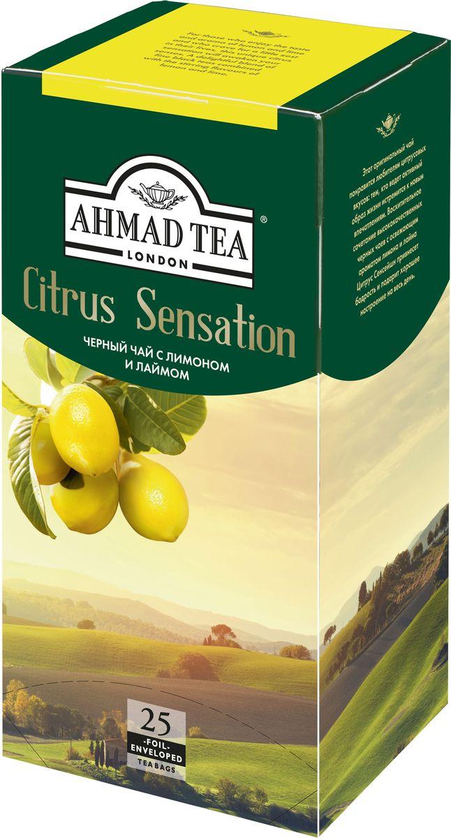 Ahmad Tea Citrus Sensation черный чай в пакетиках, 25 шт