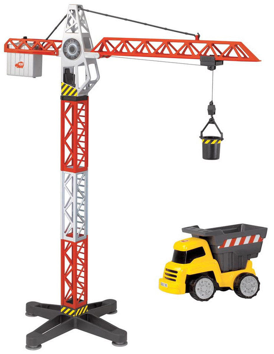 Dickie Toys Башенный кран и самосвал цены онлайн