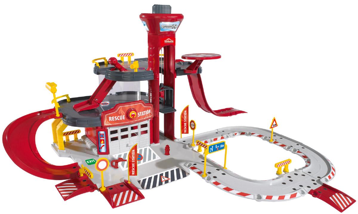 Majorette Игровой набор Пожарная станция Creatix majorette игровой набор парковка полицейская станция