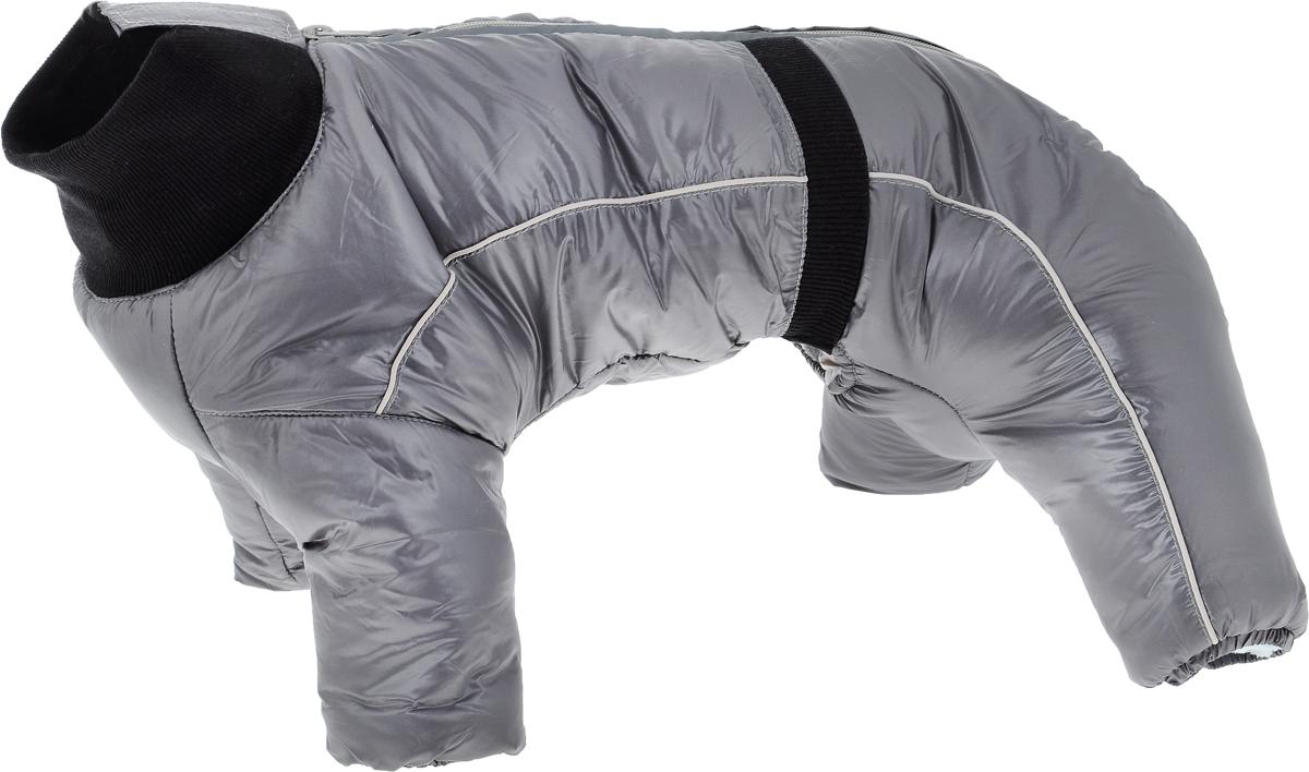 """Комбинезон для собак Dogmoda """"Китайская хохлатая"""", зимний, для мальчика, цвет: серый. Безразмерный"""