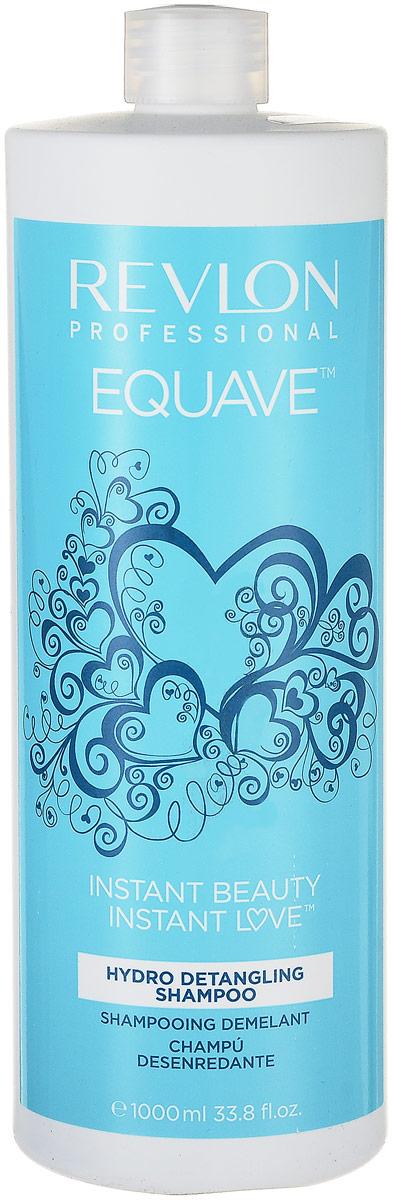 Шампунь, облегчающий расчесывание волос Revlon Professional Equave Instant Beauty Hydro Nutritive Detangling Shampoo, 1000 мл шампунь для волос увлажняющий и питательный proyou nutritive shampoo 350мл revlon professional proyou