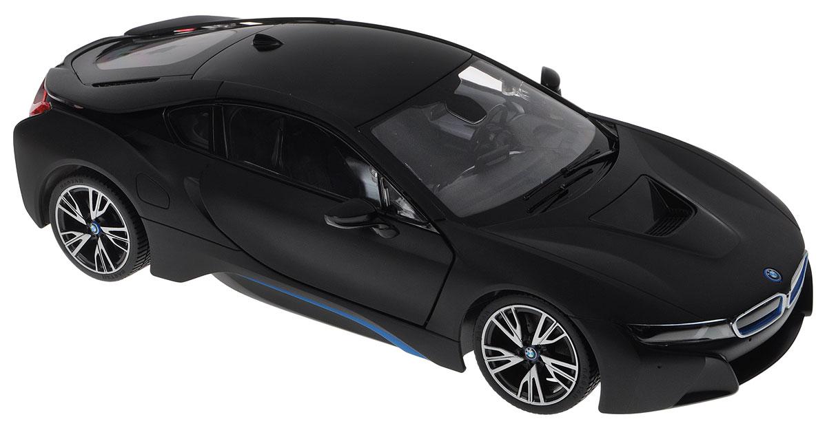 Rastar Радиоуправляемая модель BMW i8 цвет черный масштаб 1:1471010_черныйРадиоуправляемая модель Rastar BMW i8 - это прекрасно смоделированная копия реального автомобиля, отличается хорошей детализацией, световыми эффектами и качественным видом. Отлично подходит для гонок, как дома, так и на улице с друзьями.Все дети хотят иметь в наборе своих игрушек ослепительные, невероятные и крутые автомобили на радиоуправлении. Тем более, если это автомобиль известной марки с проработкой всех деталей, удивляющий приятным качеством и видом. Одной из таких моделей является автомобиль на радиоуправлении Rastar BMW i8. Это точная копия настоящего авто в масштабе 1:14. Авто обладает неповторимым провокационным стилем и спортивным характером. Потрясающая маневренность, динамика и покладистость - отличительные качества этой модели.Машина может осуществлять движение вперед, назад, вправо и влево, при движении назад у нее загораются стоп-сигналы, при движении вперед - фары. Колеса игрушки прорезинены и обеспечивают плавный ход, машинка не портит напольное покрытие.Пульт управления работает на частоте 40 MHz.Радиоуправляемые игрушки способствуют развитию координации движений, моторики и ловкости, а также стимулируется игровая деятельность.Подарите вашему ребенку возможность почувствовать себя настоящим водителем.Для работы машины необходимо купить 5 батареек напряжением 1,5V типа АА (не входят в комплект), пульт управления работает от батарейки 9V типа Крона (не входит в комплект).