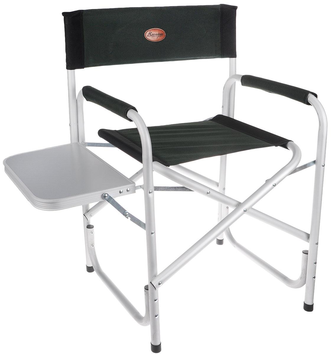 Кресло складное Canadian Camper CC-100AL, цвет: зеленый, черный, серый цена