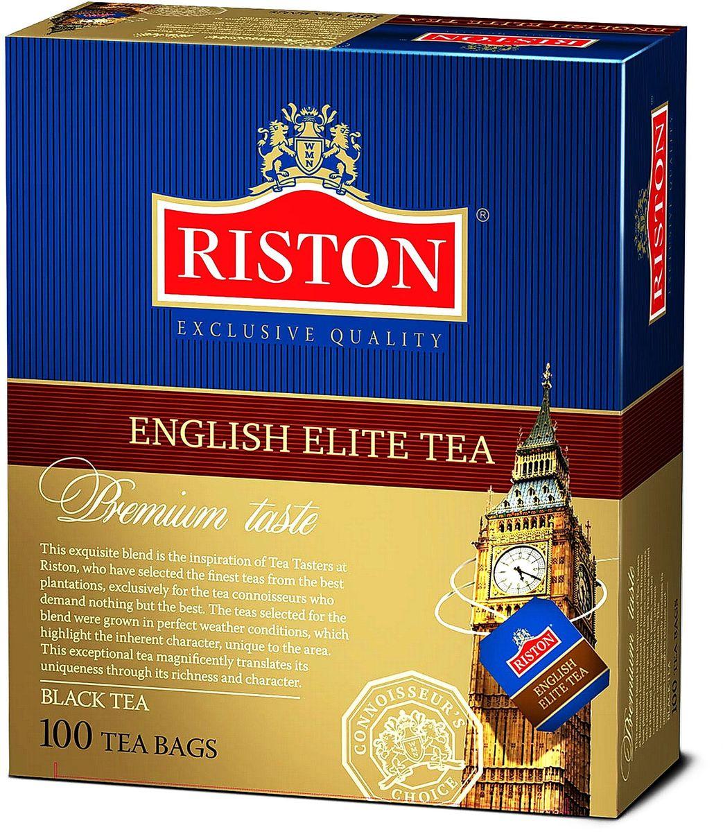 Riston Элитный Английский черный чай в пакетиках, 100 шт riston фруктовое ассорти черный чай в пакетиках 25 шт