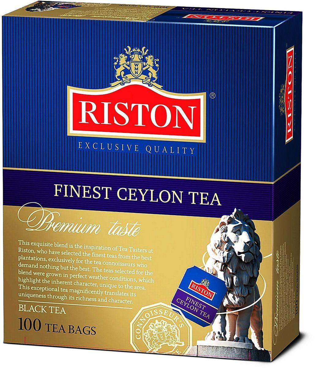 Riston Файнест Цейлон черный чай в пакетиках, 100 шт riston фруктовое ассорти черный чай в пакетиках 25 шт