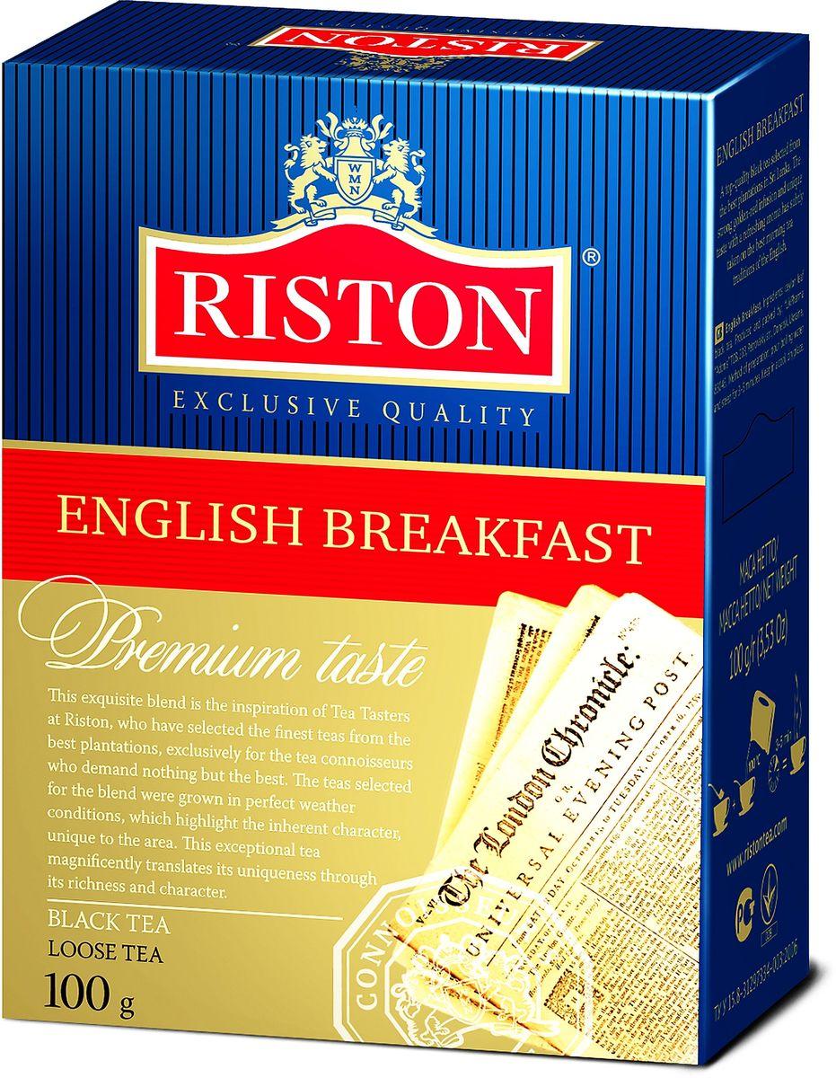 Riston Английский Завтрак ВОР черный листовой чай, 100 г чай eilles английский завтрак био черный 20 пакетиков пирамидок