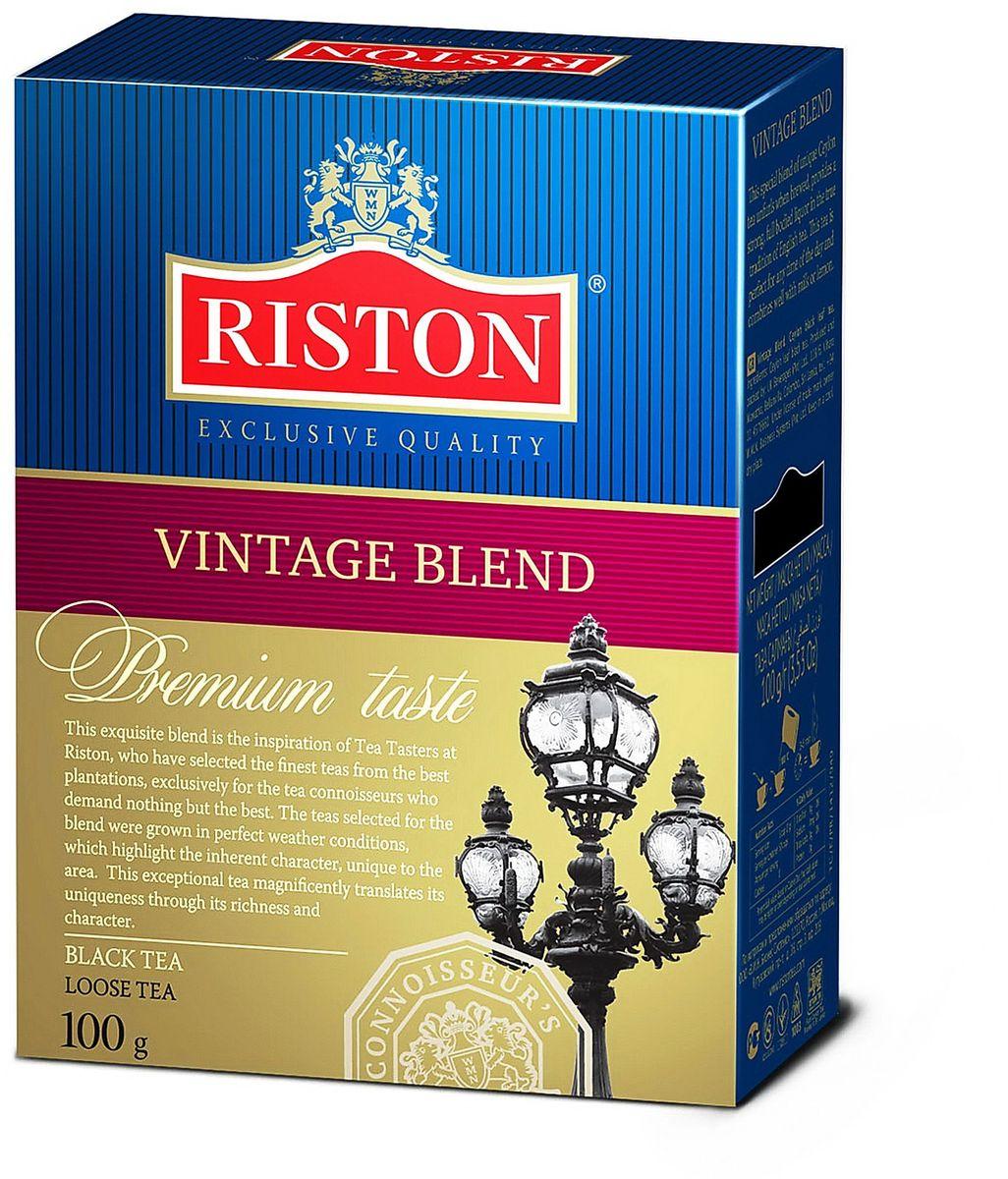Фото - Riston Винтэйдж Бленд черный листовой чай, 100 г riston элитный английский черный листовой чай 200 г