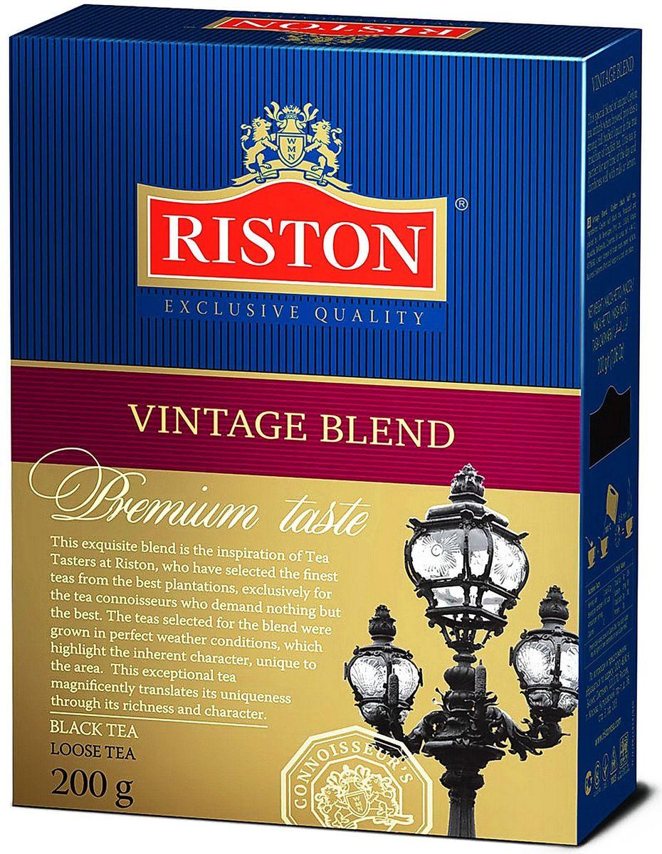 Фото - Riston Винтаж Бленд черный листовой чай, 200 г riston элитный английский черный листовой чай 200 г