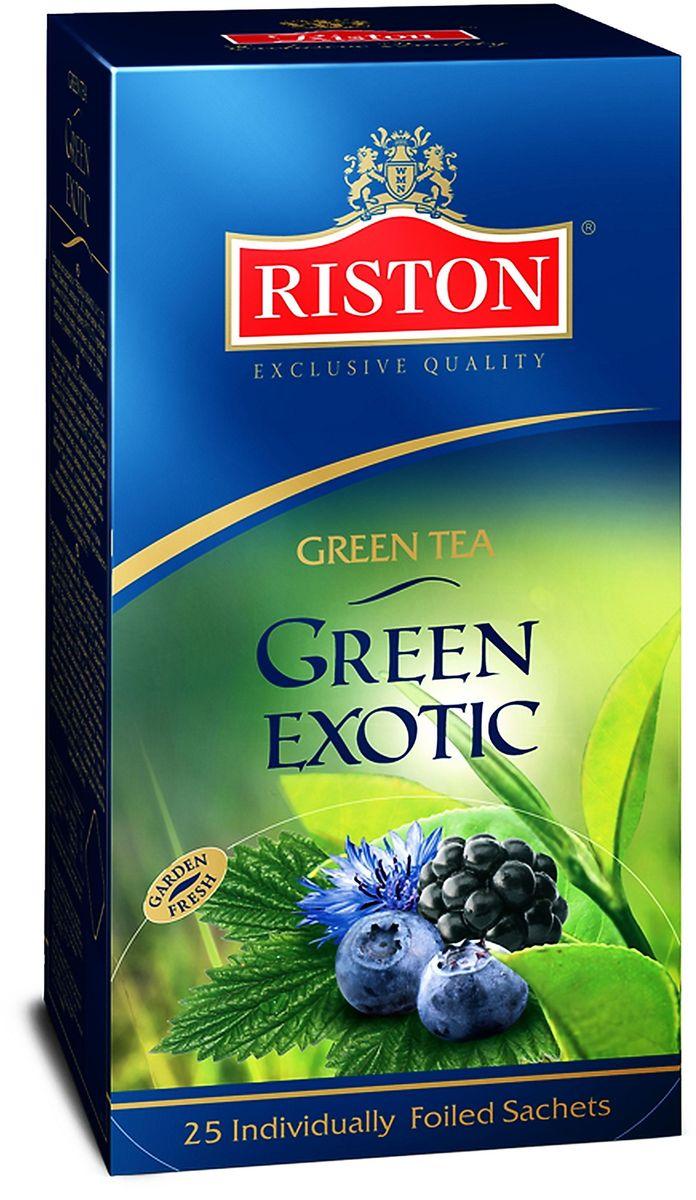 Riston Green Exotic зеленый чай в пакетиках, 25 шт riston фруктовое ассорти черный чай в пакетиках 25 шт