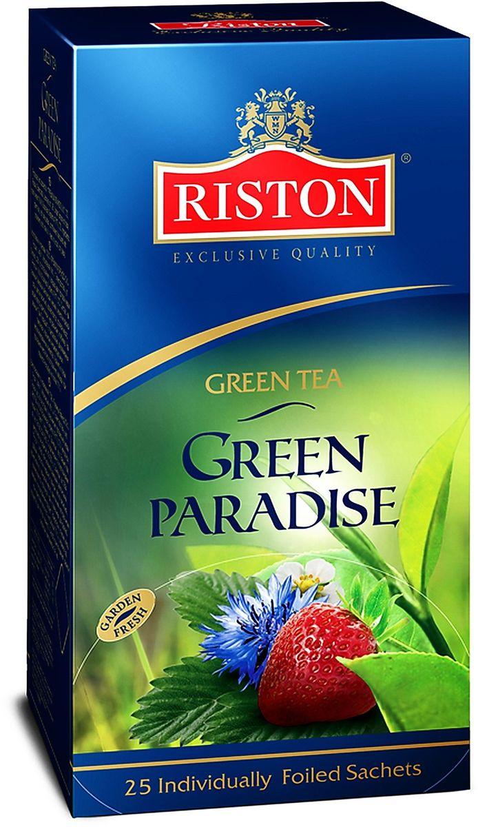Riston Зеленый Парадайз зеленый чай в пакетиках, 25 шт riston фруктовое ассорти черный чай в пакетиках 25 шт
