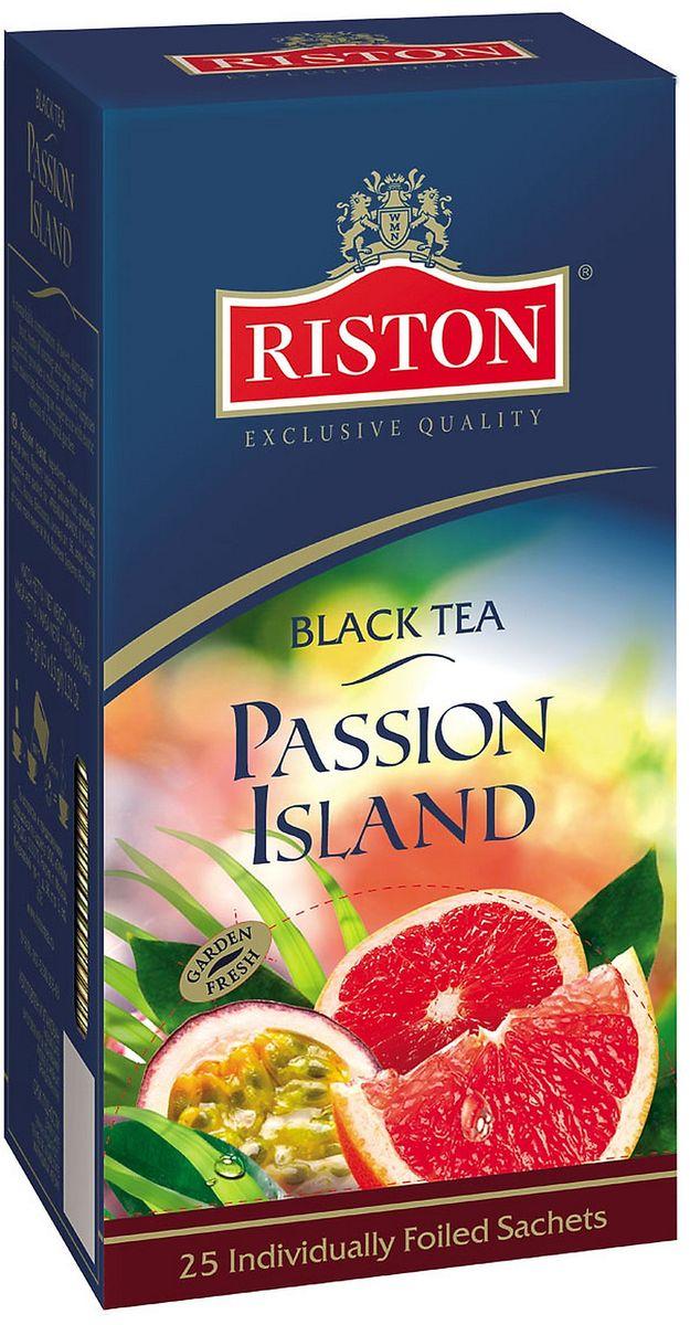 Riston Остров Наслаждений черный чай в пакетиках, 25 шт riston фруктовое ассорти черный чай в пакетиках 25 шт