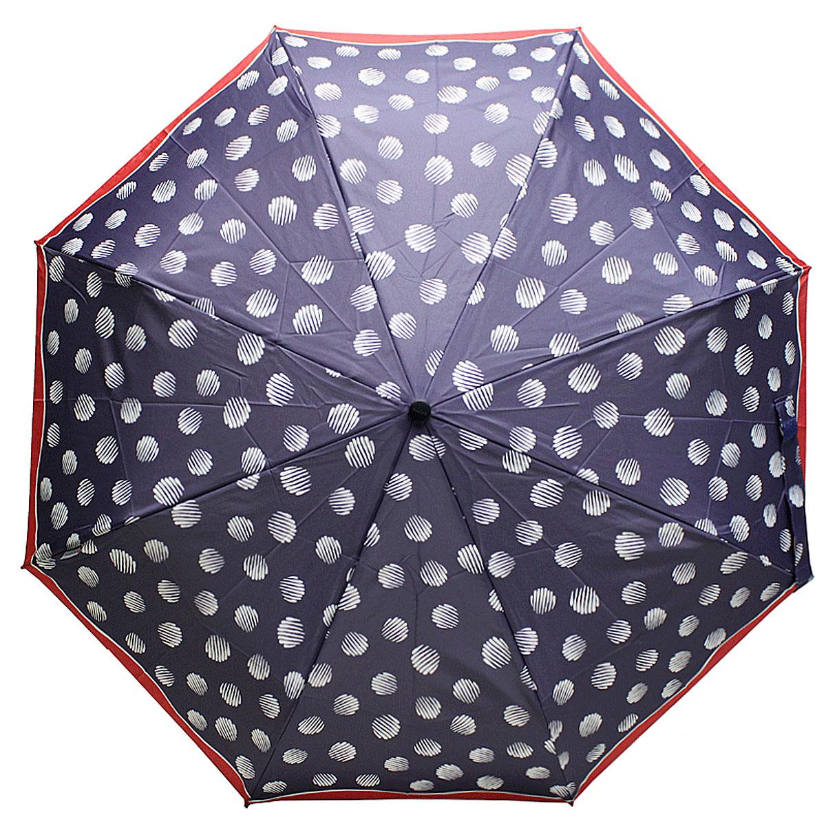 Зонт женский Knirps, полный автомат, 3 сложения, цвет: синий. 9532004937