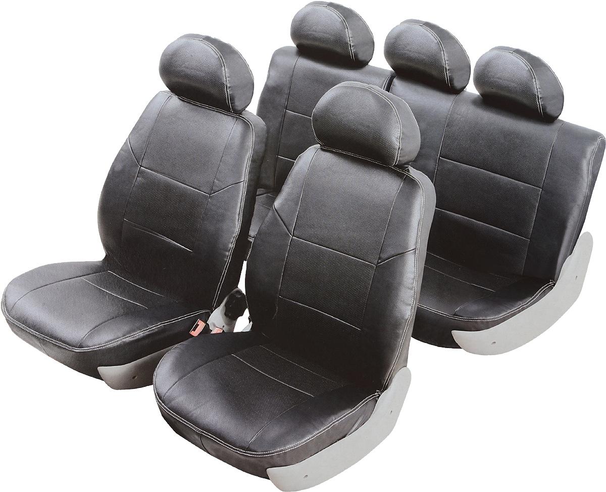 цена на Чехлы автомобильные Senator Atlant, для Hyundai Solaris 2010-, хэтчбек, 5 дверей, раздельный задний ряд, цвет: черный