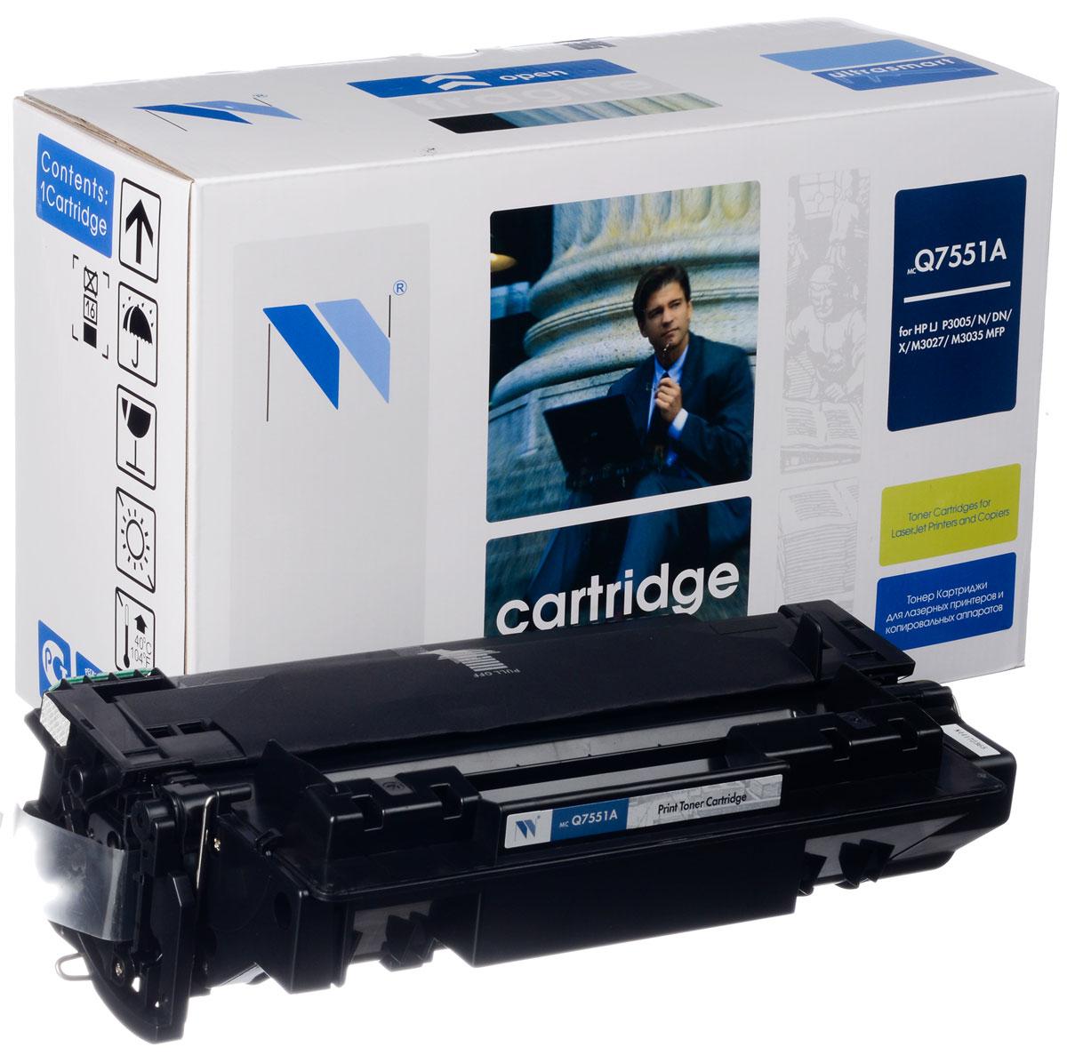 Картридж NV Print Q7551A, черный, для лазерного принтера