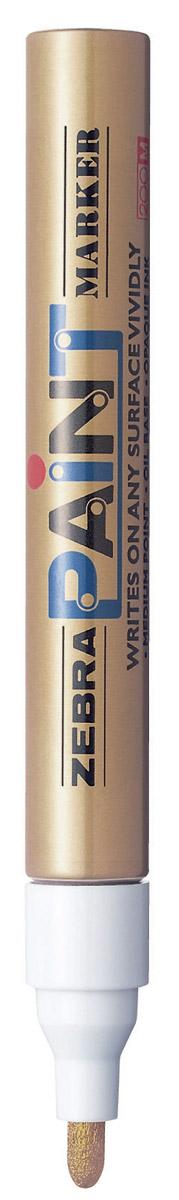 Zebra Маркер перманентный Paint цвет золотой calligrata маркер перманентный 1104 цвет красный