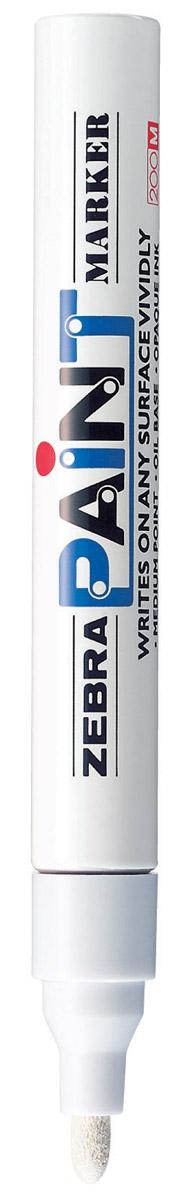 Zebra Маркер перманентный Paint белый312 203030Маркер перманентный Paint с износоустойчивым амортизированным наконечником, выполненный из пластика, станет незаменимым аксессуаром в учебе или работе. Маркер содержит жидкие чернила белого цвета, которые обеспечивают ровные и четкие линии. Насыщенный цвет сплошной линии, оставляемый маркером, не зависит от цвета окрашиваемой поверхности. Маркер перманентный Paint пишет на любой поверхности. Рекомендуем!