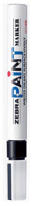 Zebra Маркер перманентный Paint черный calligrata маркер перманентный 1104 цвет красный