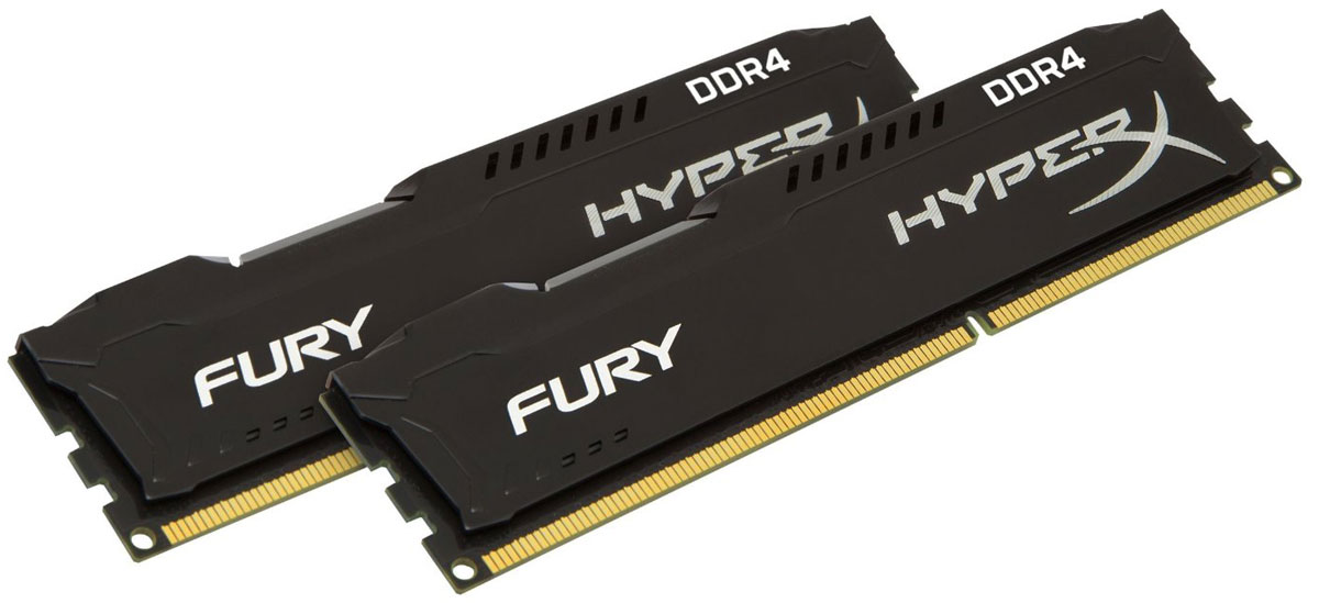 Kingston HyperX Fury DDR4 DIMM 16GB (2х8GB) 2400МГц комплект модулей оперативной памяти (HX424C15FB2K2/16)