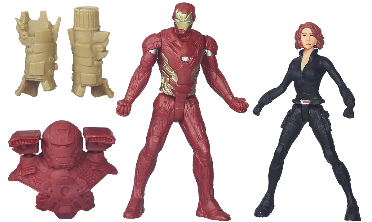 Avengers Набор фигурок Iron Man & Black Widow marvel avengers captain america civil iron man action figure collectible model
