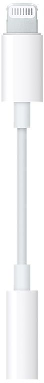 Apple Lightning to 3.5 mm jack, White адаптер адаптер apple lightning to micro usb adapter white