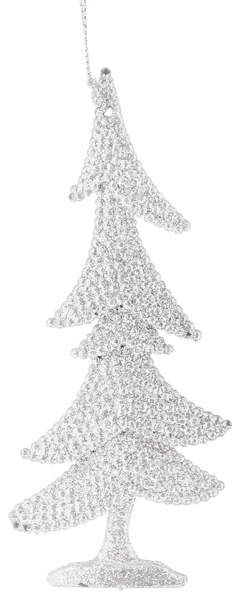 """Украшение новогоднее подвесное Magic Time """"Серебряная елочка"""", высота 15 см"""