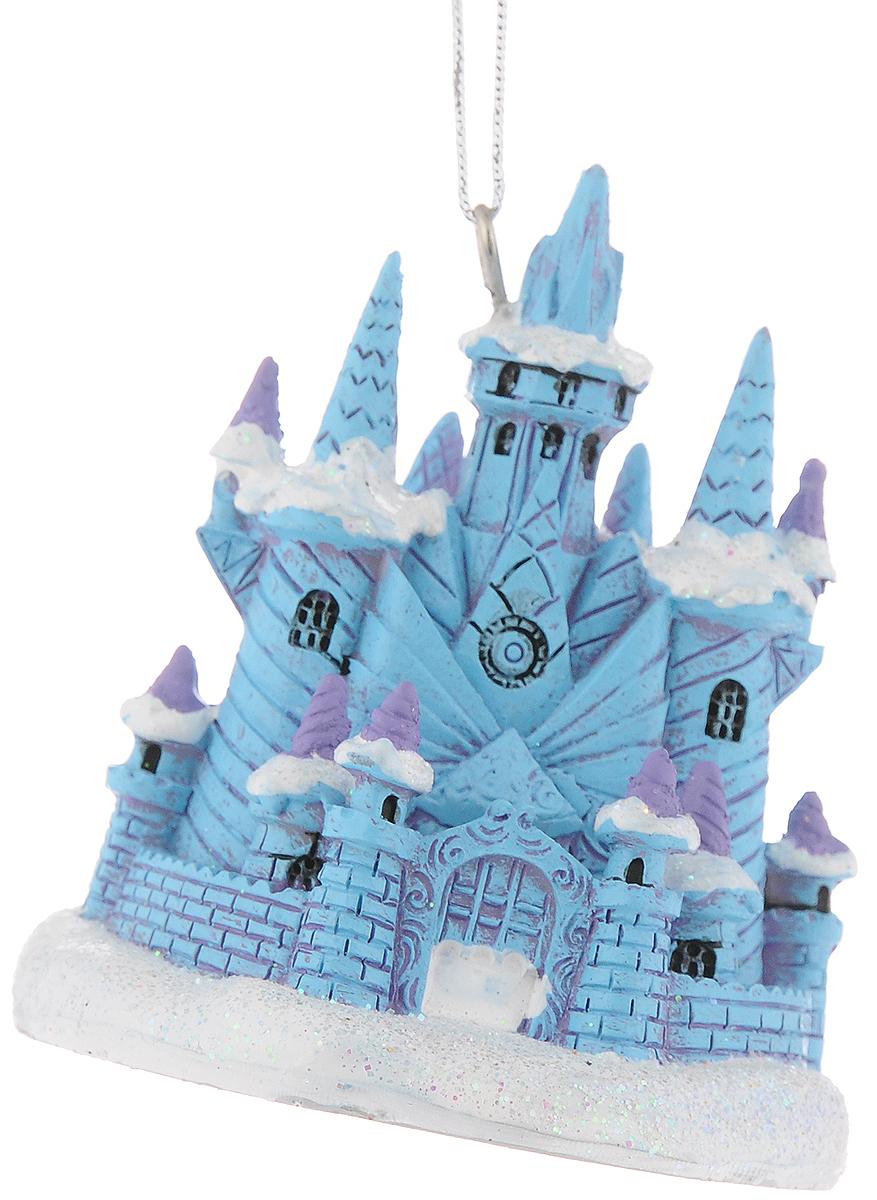 """Украшение новогоднее подвесное Феникс-Презент """"Ледяной замок"""", 7,7 x 7 x 7,8 см"""