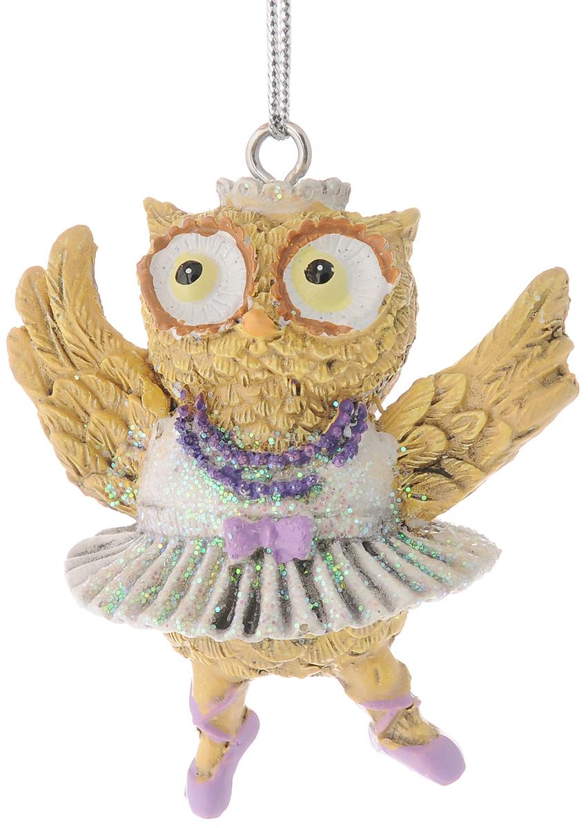 Украшение новогоднее подвесное Феникс-Презент Сова-балерина, 5 х 4,8 х 6 см феникс презент украшение новогоднее подвесное сова пират из полирезины