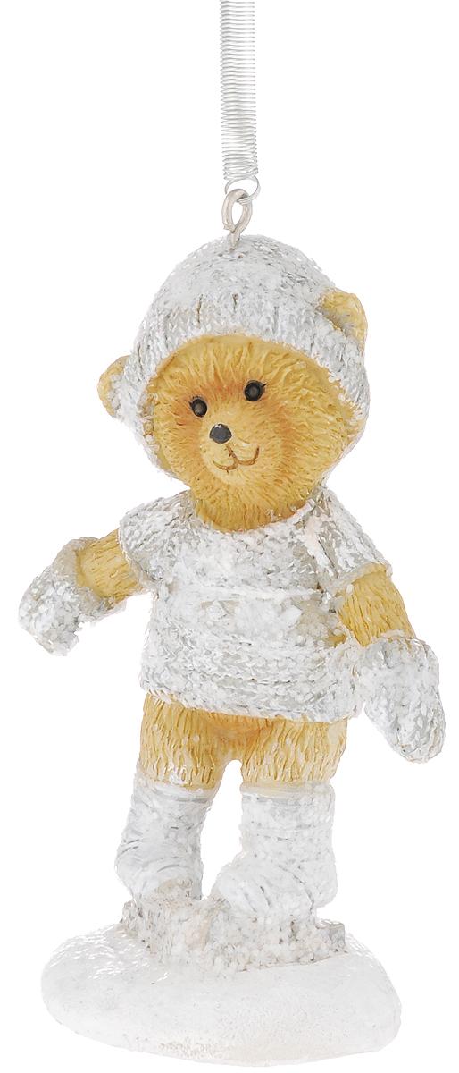 Украшение новогоднее подвесное Феникс-Презент Медвежонок на коньках, высота 8,5 см феникс презент новогоднее подвесное елочное украшение из полирезины 8 7x4 6x7 5