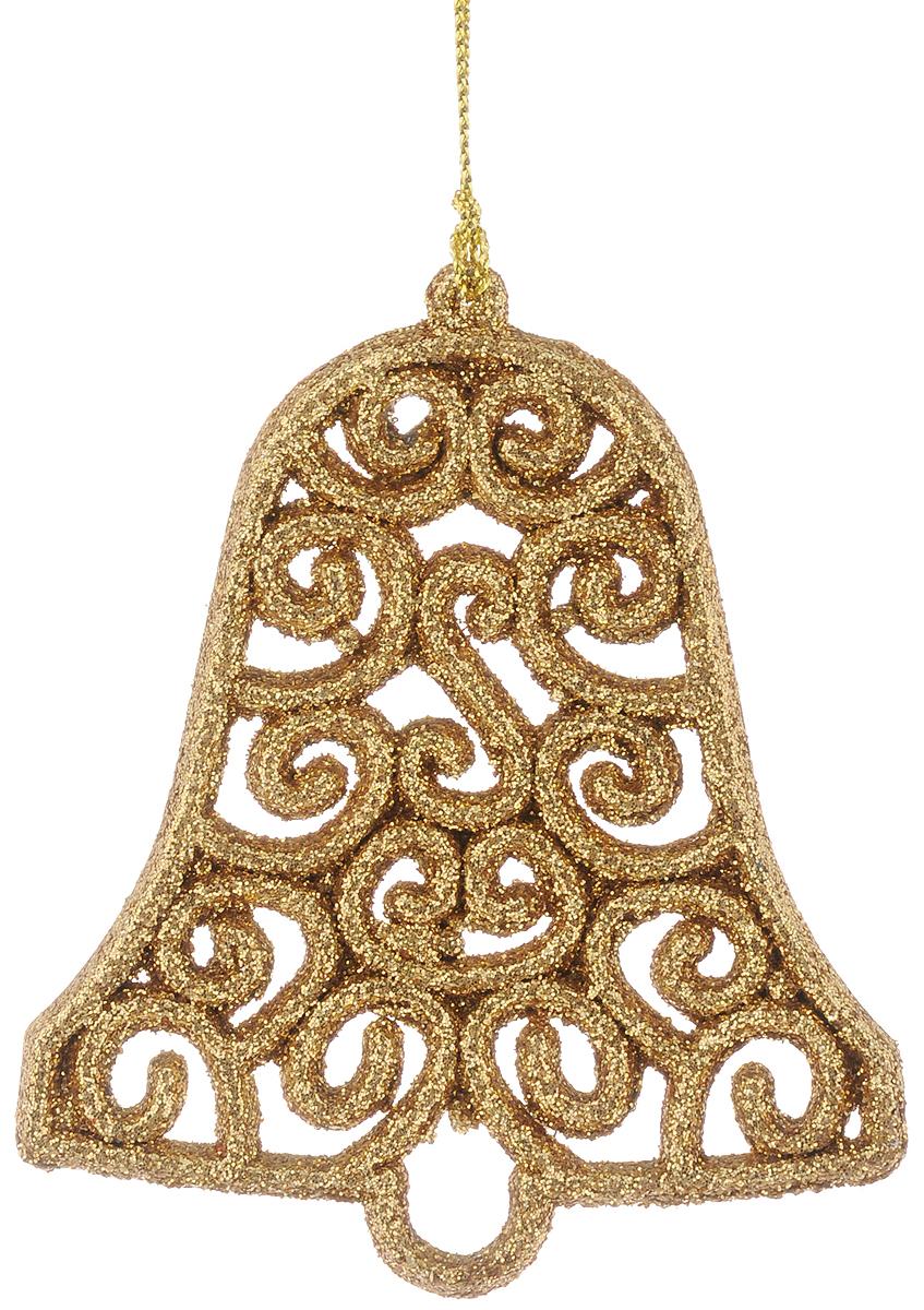 Украшение новогоднее подвесное Magic Time Золотой колокольчик, 8 х 9 см пакет подарочный magic time стеклянные сосульки 17 8 х 22 9 х 9 8 см
